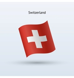 Switzerland flag waving form vector image