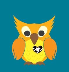 Valentine Owl vector