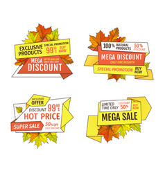 Wholesale adverts set products at super hot price vector