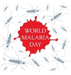 World Malaria Day poster vector image