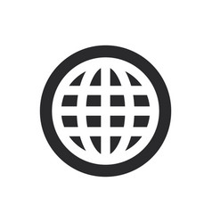 world wide web icon in modern style for web site vector image