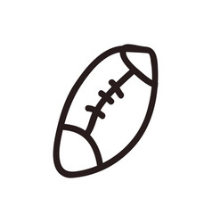 american football cartoon vector image