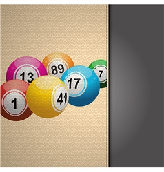 Bingo agenda on cream leather vector image vector image