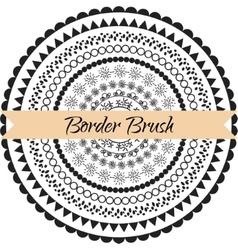 Border pattern brush set Frame kit vector image