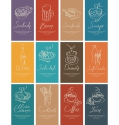 business cards with food and drink vector image