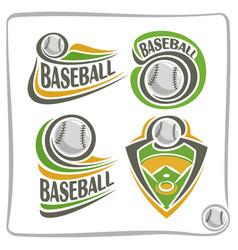 logo baseball ball vector image vector image