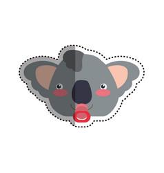 baby koala cartoon head vector image vector image