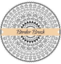 Border pattern brush set Frame kit vector image