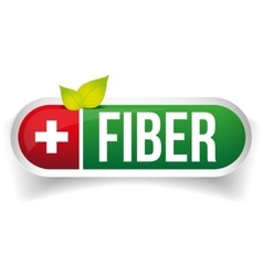 Fiber label green vector