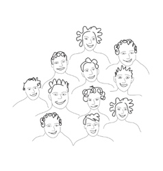 Group of men and women vector image