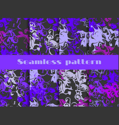 marble seamless pattern set marbled paper vector image vector image