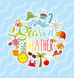 season weather card vector image