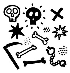 skull with cross-bones vector image