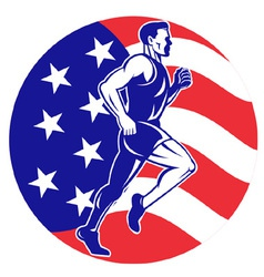 american marathon runner jogger vector image vector image