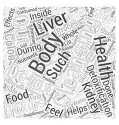 Cleansing the body detox word cloud concept vector