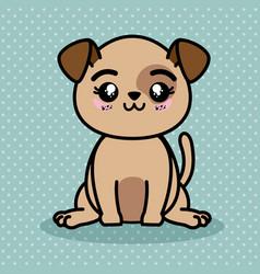 cute and lovely dog cartoon vector image