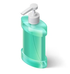 Liquid soap dispenser vector image vector image