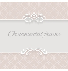 Paper lace background ornamental frame vector image vector image