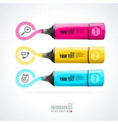 text boxes infographics icon and marker vector image vector image