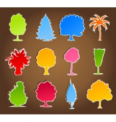 trees icon4 vector image vector image