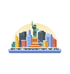 usa icon in flat style vector image