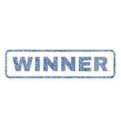 Winner textile stamp vector