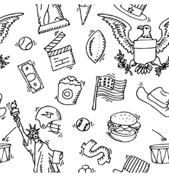 American Doodle set pattern vector image