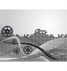 gray abstract background with gears vector image