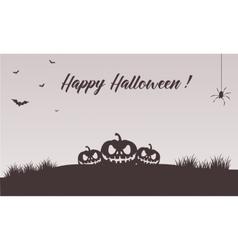 Happy halloween pumpkins backgrounds vector image vector image