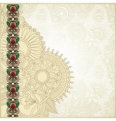 ornate grunge vintage template vector image