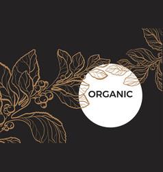template organic black vector image