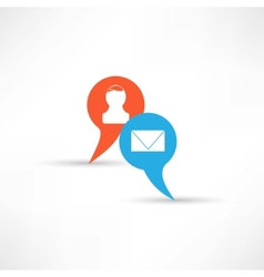 transmit messages icon vector image vector image