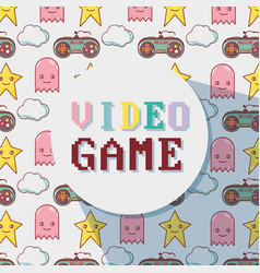 Videogame play game simulator background vector