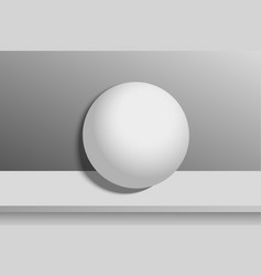 3d basic geometric shapes blank sphere vector image