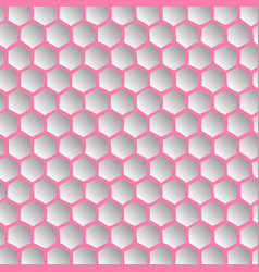 abstract effect honey comb pink background vector image