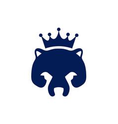 abstract king bear concept logo icon vector image