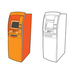 Atm machine - cash dispenser vector