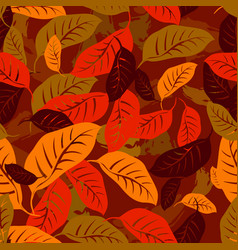autumn fallen leaves seamless pattern background vector image