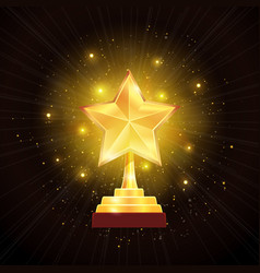 Award gold star background vector