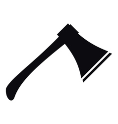 Axe icon simple style vector