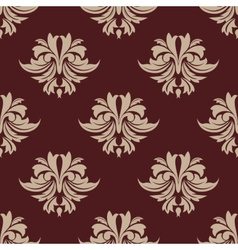 Beige and brown seamless arabesque pattern vector image