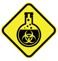 Bio hazard warning sign vector