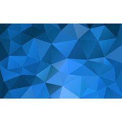 Blue abstract geometric rumpled triangular vector