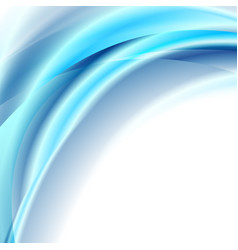 bright blue smooth liquid waves abstract elegant vector image
