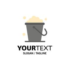 Bucket cleaning floor home business logo template vector