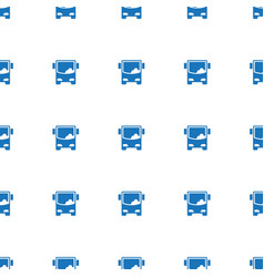 bus airoirt icon pattern seamless white background vector image