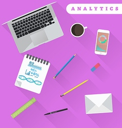 Business analytics and financial audit Brainstorm vector image