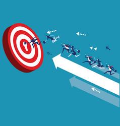 Business team reach their goal concept business vector