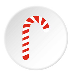 candy cane icon circle vector image