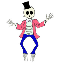 Cartoon skeleton giving a thumbs up vector